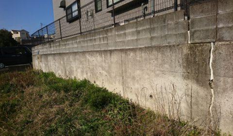 擁壁補強工事・地盤改良・家の傾き直し工事
